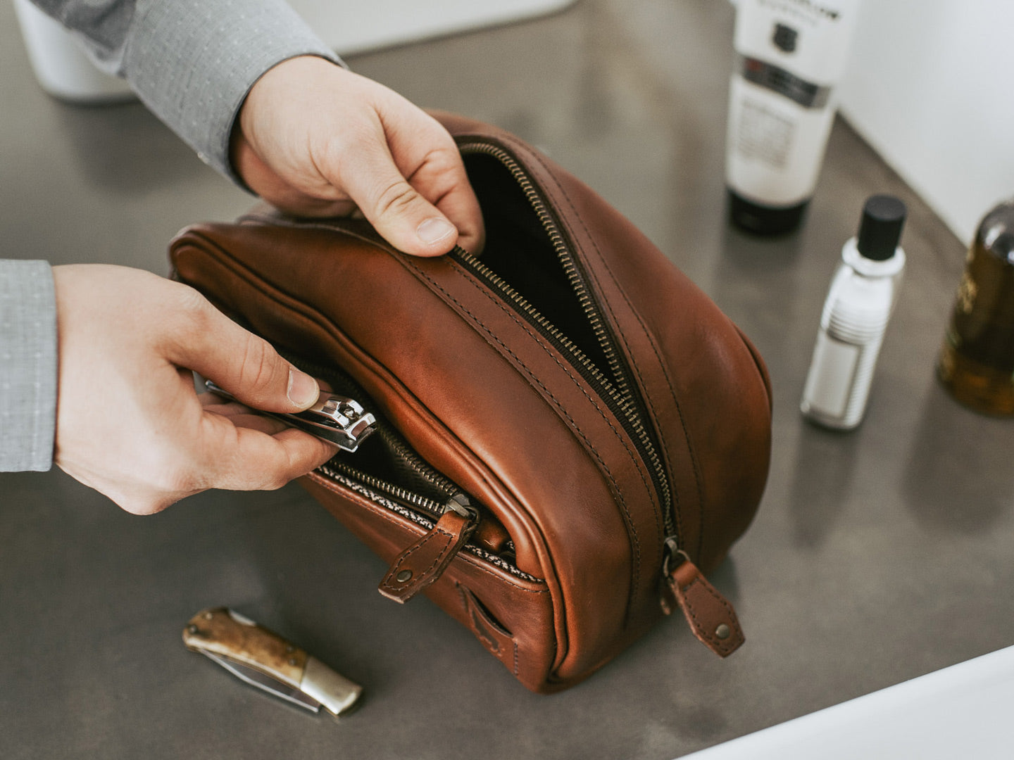 Leather Dopp kit Best Man Gift