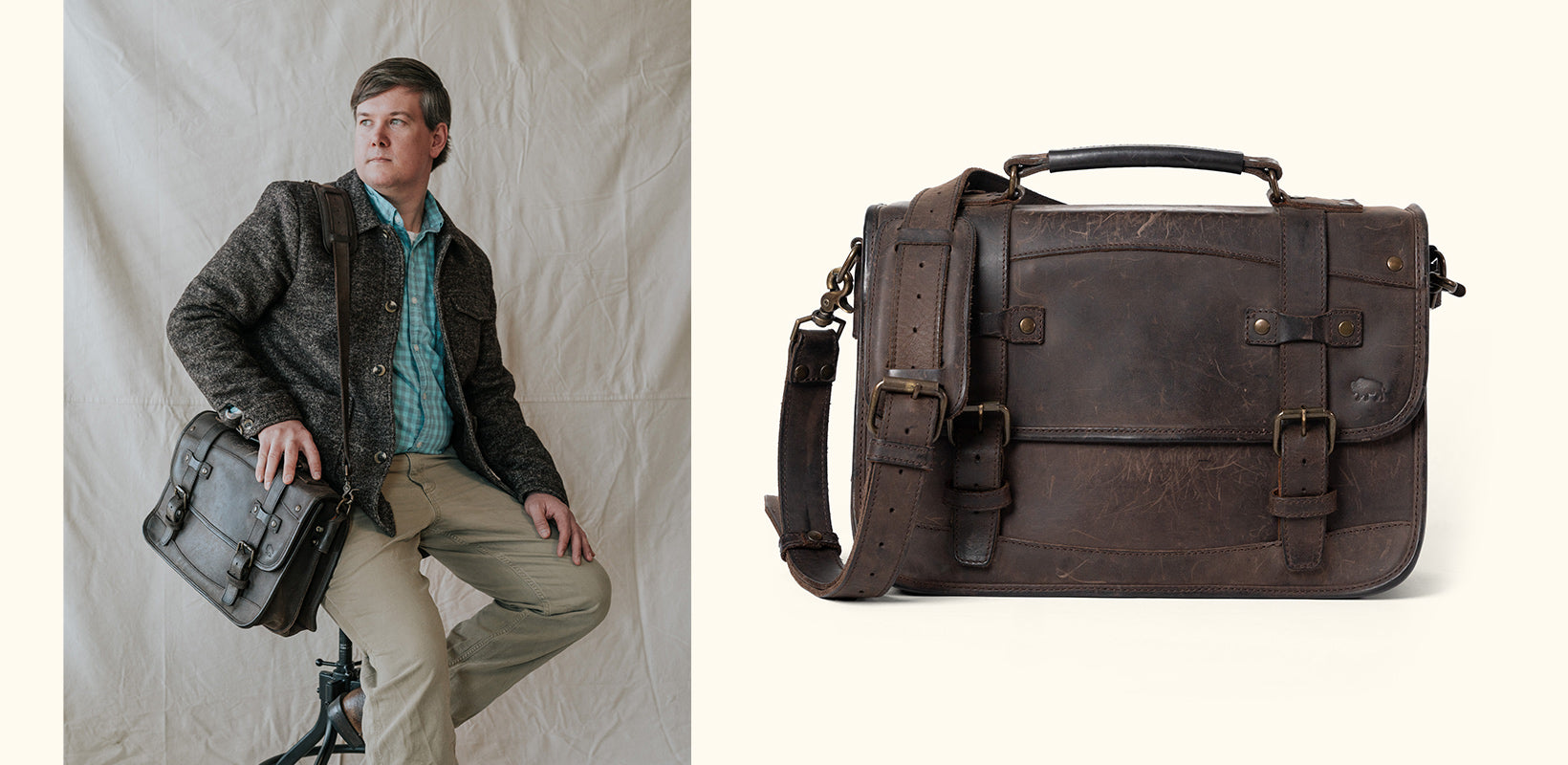Buffalo Jackson Worn leather goods