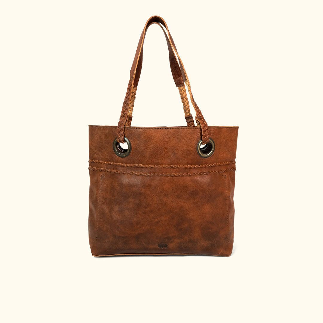b8b536bf5e Camden Braided Leather Tote | Hickory