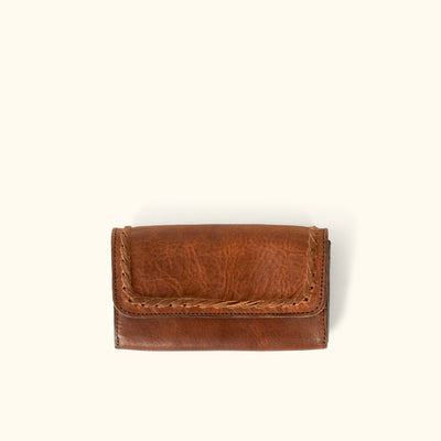Camden Braided Leather Wallet | Hickory