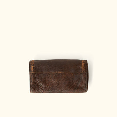 Camden Braided Leather Wallet | Mahogany