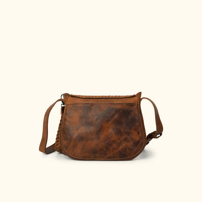 Camden Braided Leather Crossbody Bag | Hickory