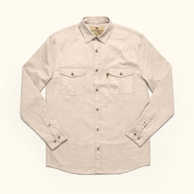 Men's Classic Cotton Twill Long sleeve shirt Sandstone
