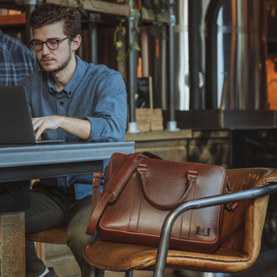Sleek Leather Briefcase | Elderwood