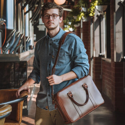 Modern Leather Briefcase | Elderwood