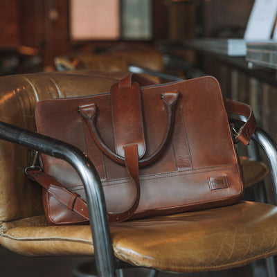 Men's Modern Leather Attache | Elderwood