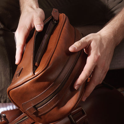 Classic Inspired Leather Dopp Kit | Elderwood