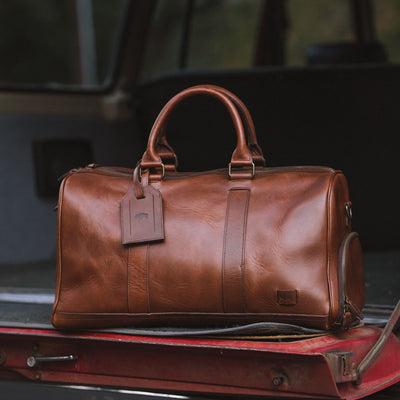 Classic Travel Style Leather Duffle | Elderwood