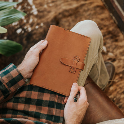 Denver Leather Journal Cover - Large | Autumn Brown