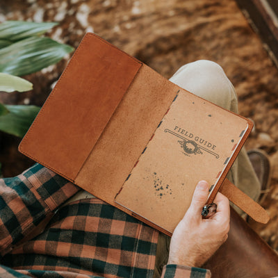 Denver Leather Journal Cover - Large | Autumn Brown hover