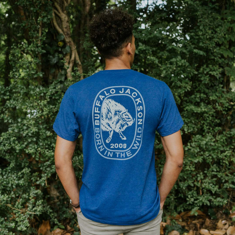 Born In The Wild Graphic Tee | Sweet Blue