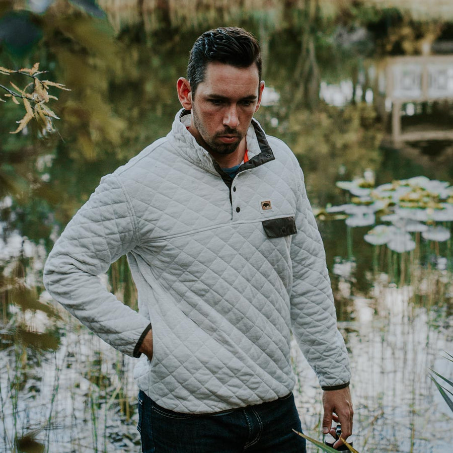 Cannon Quilted Pullover | Woodland Tan