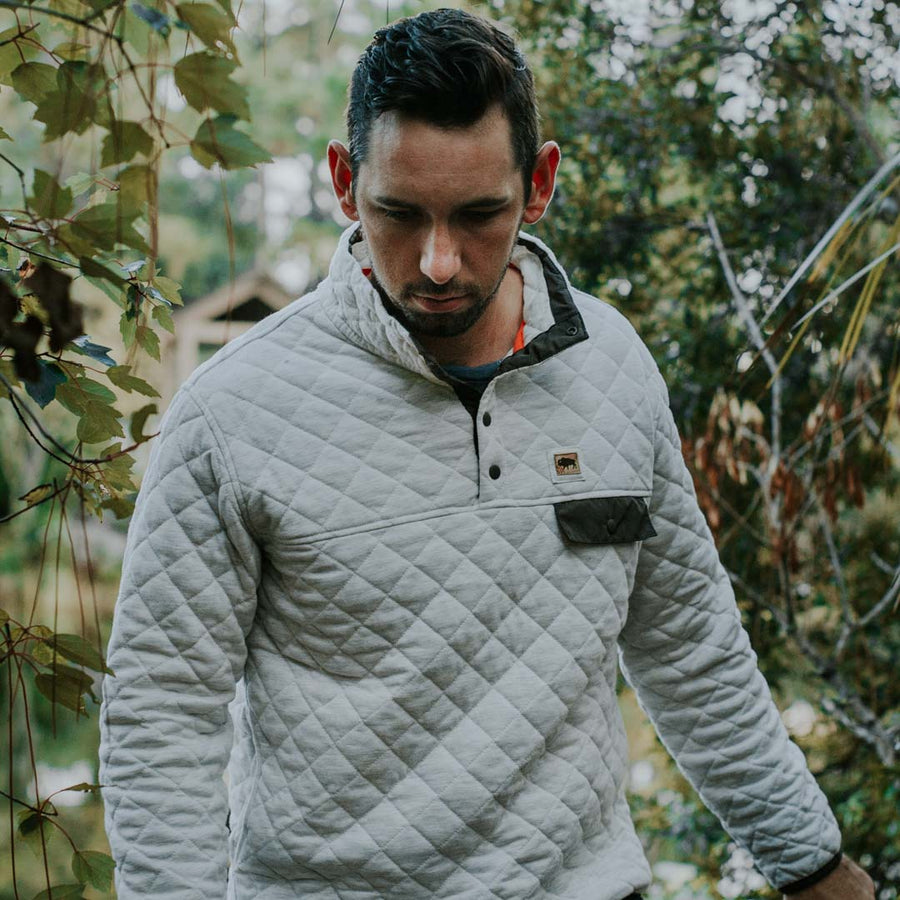 Cannon Quilted Pullover - Woodland Tan