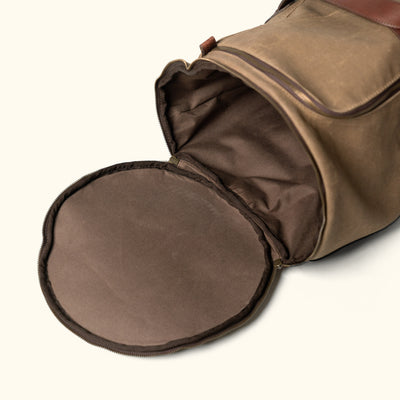 Easy storage waxed Canvas travel duffle