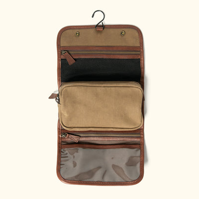 Mens Classic Canvas Hanging Toiletry kit
