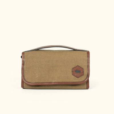 Mens Vintage Waxed Canvas Hanging Dopp kit