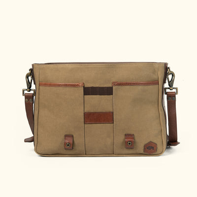 Vintage Canvas and Leather Messenger Bag