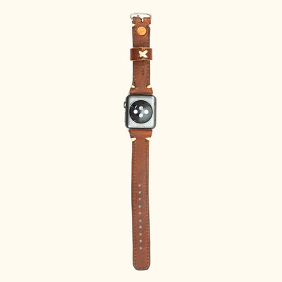 Dakota Leather Apple Watch Bands | Chestnut Brown