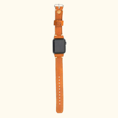 Dakota Leather Apple Watch Bands | Saddle Tan
