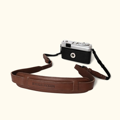 Dakota Leather Camera Strap | Dark Hazelnut