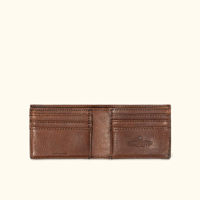 Dakota Leather Bifold Wallet | Chestnut Brown hover