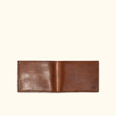 Dakota Leather Bifold Wallet | Chestnut Brown