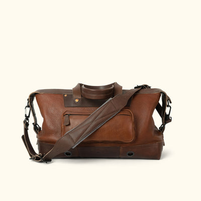Rugged Leather Weekend Bag Brown back