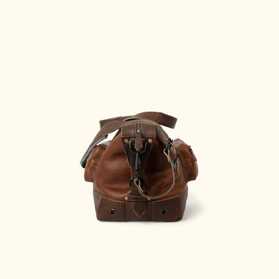 Vintage Leather Weekend Bag Brown side