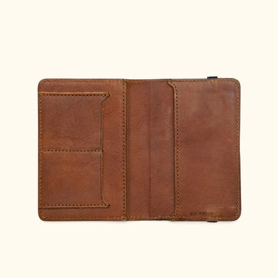 Rugged Leather Field Notes Cover & Travel Wallet | Chestnut Brown