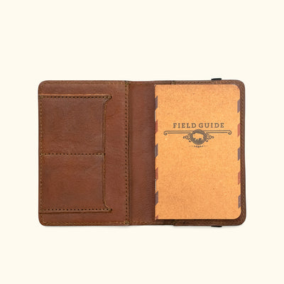 Vintage Leather Passport and Travel Wallet | Chestnut Brown