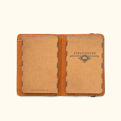 Vintage Leather Field Notes Cover & Travel Wallet | Saddle Tan