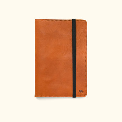Dakota Leather Journal Cover & iPad Mini Case | Saddle Tan
