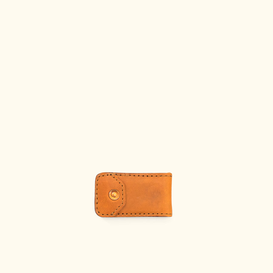 Dakota Leather Magnetic Money Clip | Saddle Tan