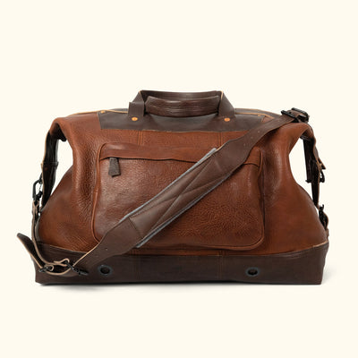 Men's Best Leather Weekend Bag Brown back