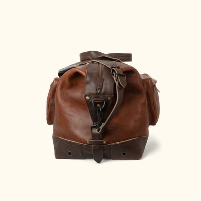 Rugged Leather Weekend Bag Side