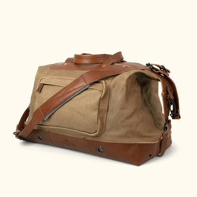 Rugged Canvas Weekend Bag Khaki turned