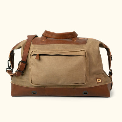 Men's Best Waxed Canvas Weekend Bag Khaki front