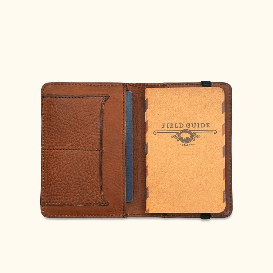 Dakota Leather Passport Wallet & Field Notes Cover | Chestnut Brown