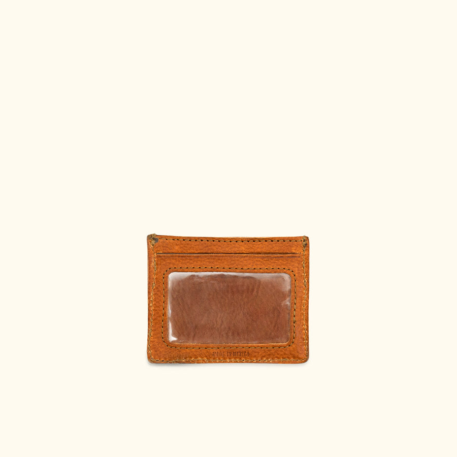 Dakota Leather Vintage Slim ID Wallet | Saddle Tan