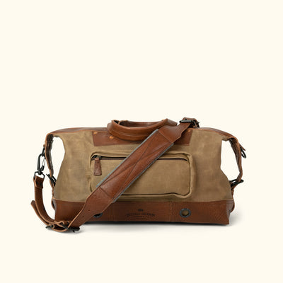 Classic Waxed Canvas Weekend Bag Khaki back