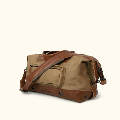 Men's Vintage Canvas Weekend Bag Khaki Turned