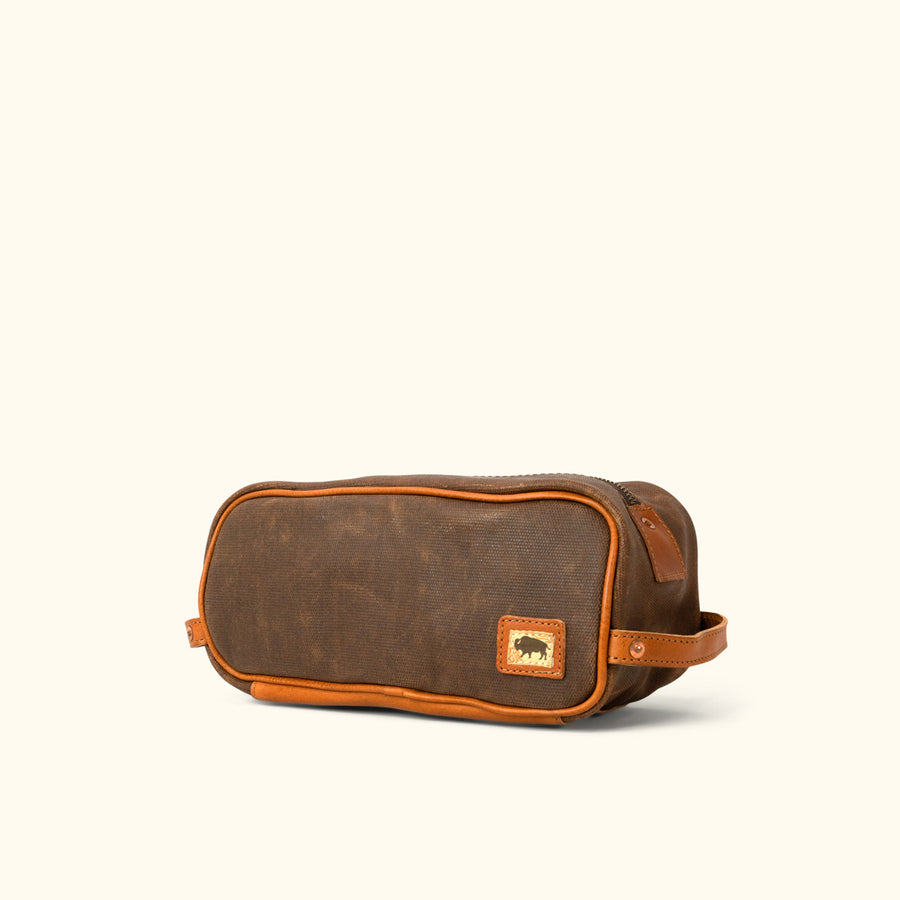 cc5962eac3 Dakota Waxed Canvas Dopp Kit Toiletry Bag