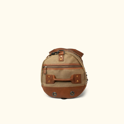 Men's Best Waxed Canvas Duffle Bag/Backpack Khaki Side