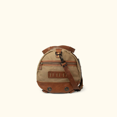 Men's Epic Waxed Canvas Duffle Bag/Backpack Khaki Side