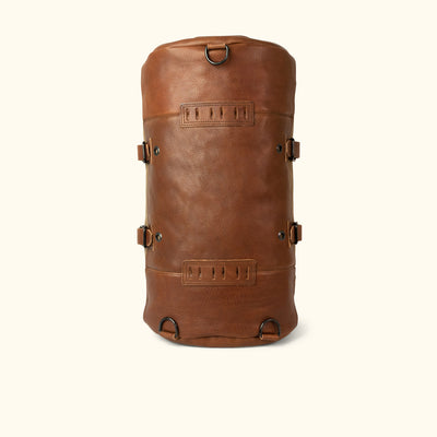 Men's Leather Duffle Bag/Backpack | Field Khaki w/ Chestnut Brown Leather