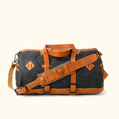 Men's Classic Canvas Duffle Bag/Backpack Navy Back