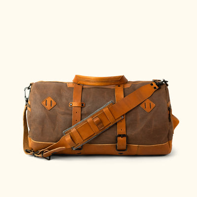 Vintage Canvas Duffle Bag/Backpack Brown Back