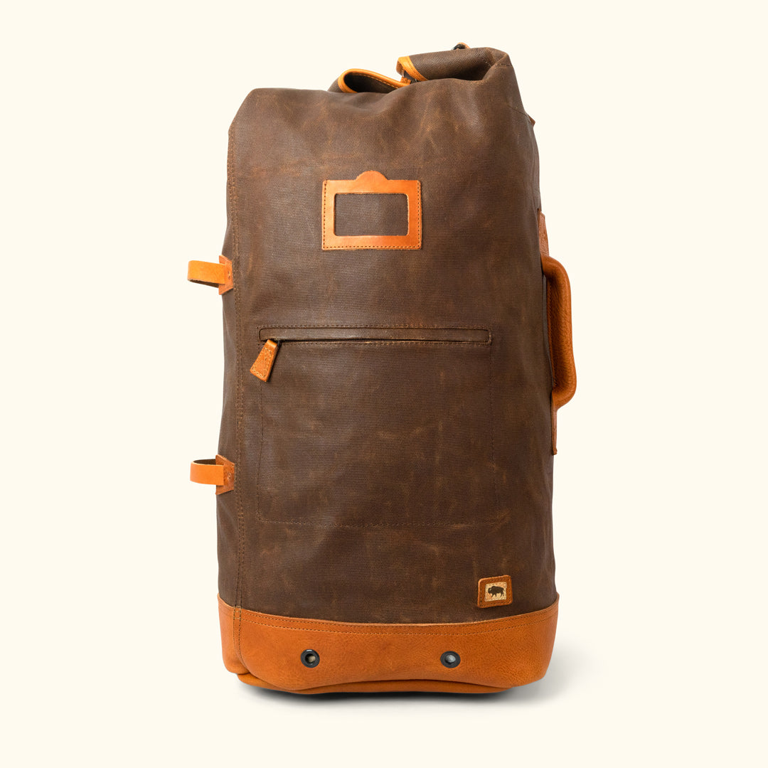 Dakota Waxed Canvas Military Sea Bag Backpack  41713074384