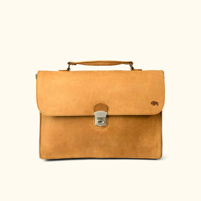 Denver Leather Attache Briefcase | Whiskey