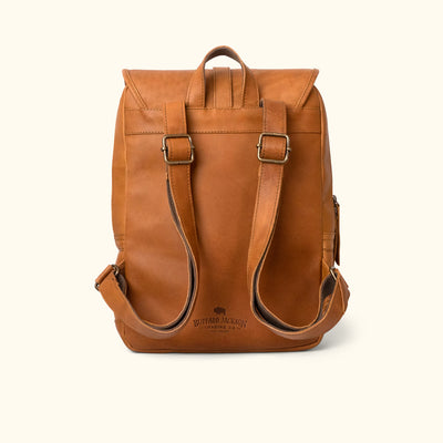 Denver Leather Backpack | Old Gold